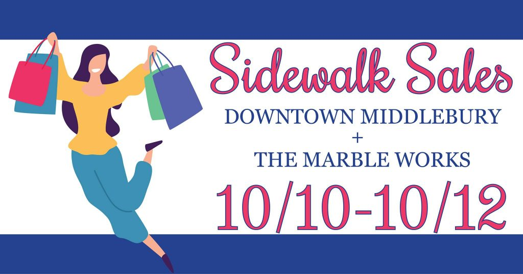 Downtown Middlebury & The Marble Works Sidewalk Sales